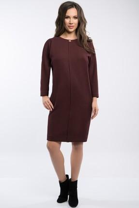Купить Платье Teffi style 1378 бордо, Повседневные платья, 1378, бордо, 66% ПЭ, 29% вискоза, 5% спандекс, Мультисезон