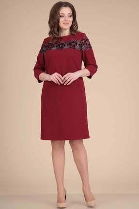 Купить Платье Viola Style 0771 бордо, Повседневные платья, 0771, бордо, вискоза 70%, пэ 25%, спандекс 5%, Мультисезон