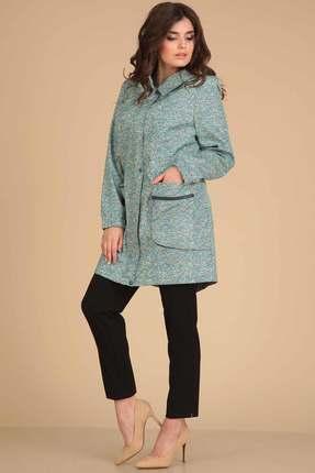 Пальто Viola Style 6019 бирюзовые тона