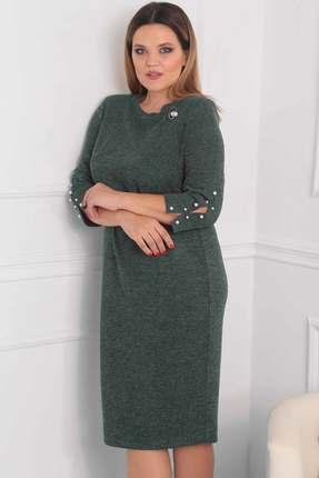 Купить Платье Viola Style 0792 зеленый, Повседневные платья, 0792, зеленый, Вискоза 85%, люрекс 10%, спандекс 5%, Мультисезон