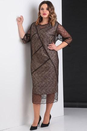 Купить Платье Viola Style 0817 черные тона, Вечерние платья, 0817, черные тона, 93% ПЭ, 7% Спандекс, Мультисезон