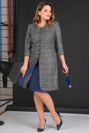 Комплект юбочный Viola Style 2615 серый с синим