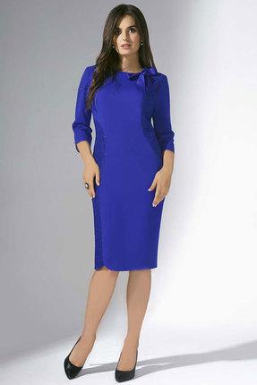 Купить Платье Erika Style 711 василек, Вечерние платья, 711, василек, вискоза 72%, ПЭ 25%, спандекс 3%, Мультисезон