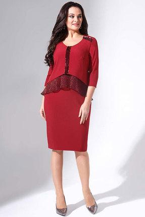 Купить Платье Erika Style 716 бордо, Вечерние платья, 716, бордо, вискоза 72%, ПЭ 25%, спандекс 3%, Мультисезон