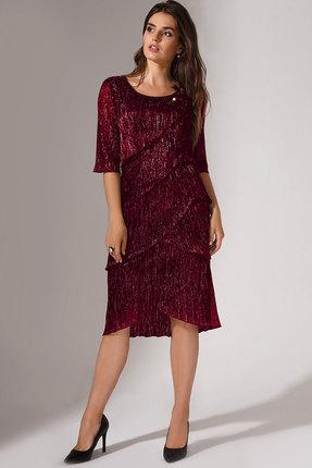 Купить Платье Erika Style 714-1 бордо, Вечерние платья, 714-1, бордо, вискоза 72%, ПЭ 25%, спандекс 3%, Мультисезон