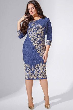 Купить Платье Erika Style 700-4 синий, Повседневные платья, 700-4, синий, вискоза 72%, ПЭ 25%, спандекс 3%, Мультисезон
