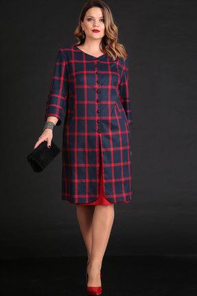 Комплект юбочный Viola Style 2605 синий с красным
