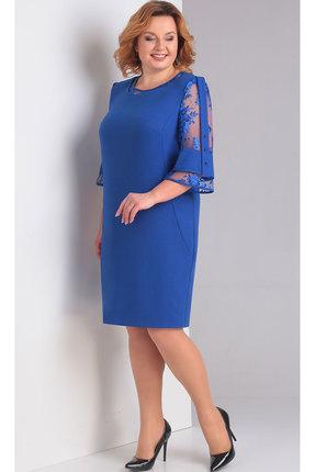 Купить Платье TricoTex Style 3815 синий, Вечерние платья, 3815, синий, 70% пэ, 25% вискоза, 5% спандекс, Мультисезон
