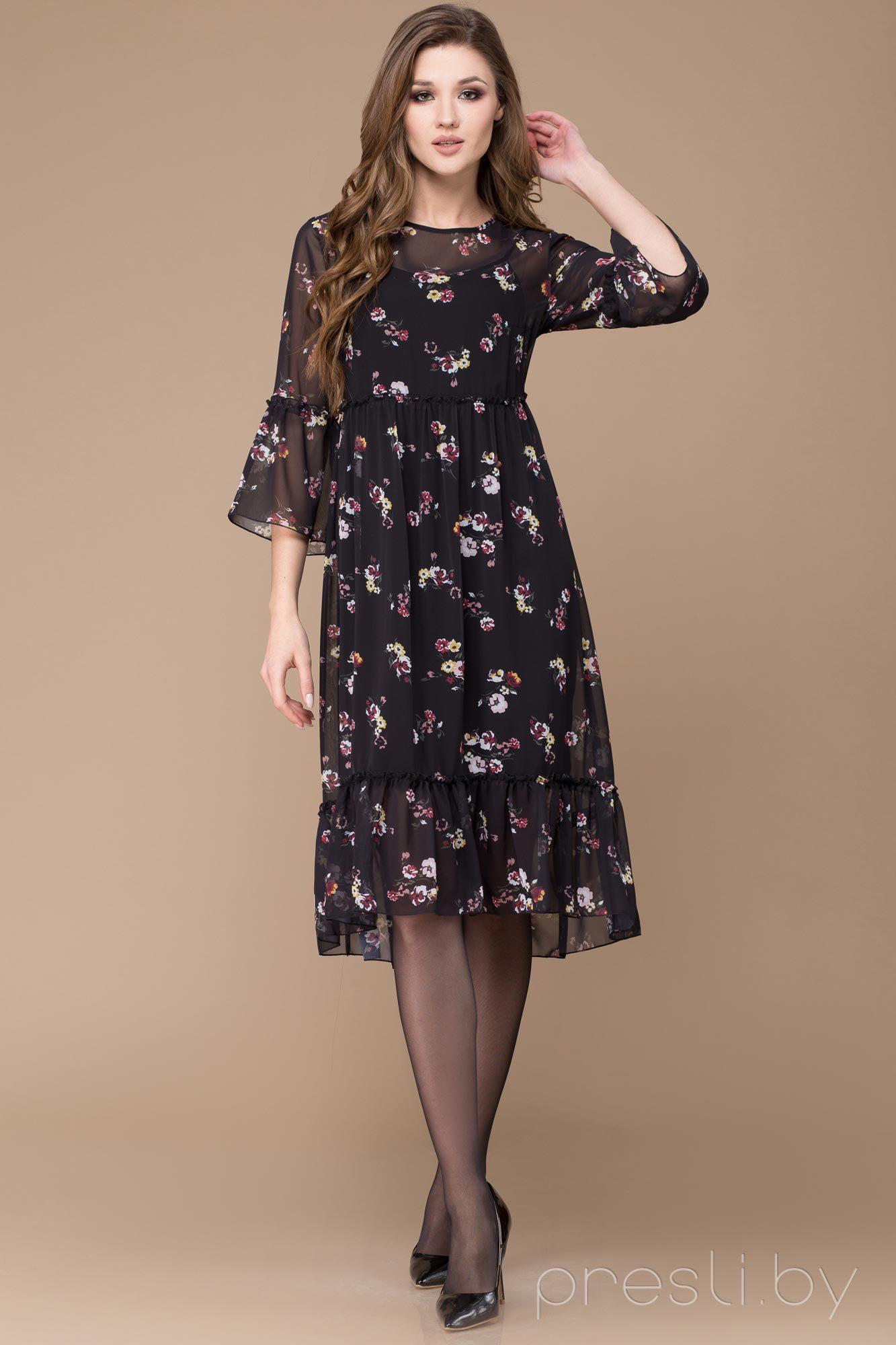 7436e8db926 Черное вечернее платье на бретелях с пышной юбкой Svetlana Style