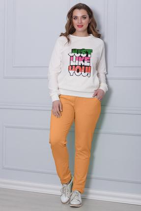 Купить Комплект брючный Michel Chic 578 оранжевый, Брючные, 578, оранжевый, состав : 60% хлопок, 40% полиэстер, Мультисезон