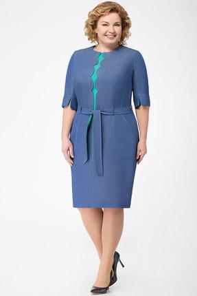 Купить Платье KetisBel 1394 синий, Повседневные платья, 1394, синий, 68% Вискоза, 30% ПЭ, 2% спандекс, Мультисезон