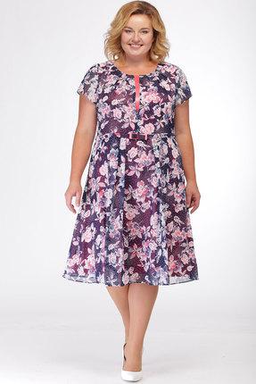 Купить Платье KetisBel 1415 цветы , Повседневные платья, 1415, цветы , 95% ПЭ, 5% спандекс, Мультисезон