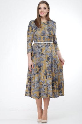 Купить Платье KetisBel 1440 цветы , Повседневные платья, 1440, цветы , Вискоза 68%, ПЭ 30%, спандекс 2%, Мультисезон