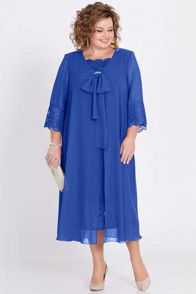 Купить Платье Pretty 802 василек, Вечерние платья, 802, василек, 20%вискоза 80%полиэстр, Мультисезон