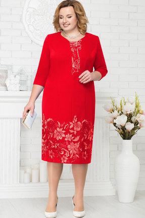 Купить Платье Ninele 5698 красный, Вечерние платья, 5698, красный, Полиэстер 95%, Спандекс 5%, Кружево - ПЭ-100%, Подкладка - Полиэфир 95%, Мультисезон