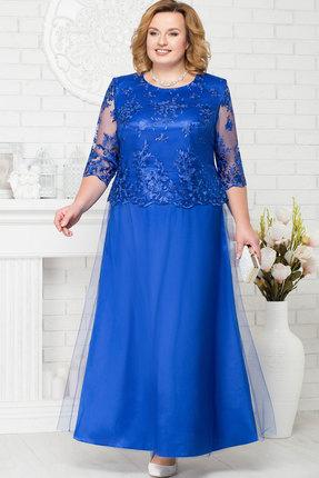 Купить Платье Ninele 7223 васильковый, Вечерние платья, 7223, васильковый, Аталас - полиэстер 95%, спандекс 5%, кружево - ПЭ-100%, фатин - полиэстер 95%, Мультисезон