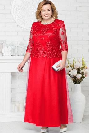 Купить Платье Ninele 7223 красный, Вечерние платья, 7223, красный, Аталас - полиэстер 95%, спандекс 5%, кружево - ПЭ-100%, фатин - полиэстер 95%, Мультисезон