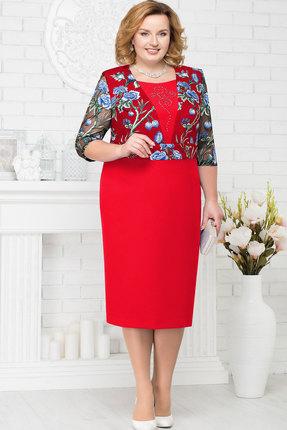 Купить Платье Ninele 7224 красный, Вечерние платья, 7224, красный, Полиэстер 95%, Спандекс 5%, Кружево - ПЭ-100%, Подкладка - Полиэфир 95%, Мультисезон