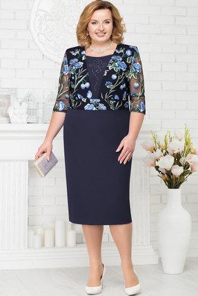 Купить Платье Ninele 7224 тёмно-синий, Вечерние платья, 7224, тёмно-синий, Полиэстер 95%, Спандекс 5%, Кружево - ПЭ-100%, Подкладка - Полиэфир 95%, Мультисезон