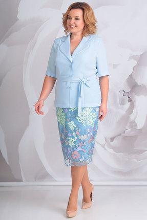 Купить Комплект юбочный Golden Valley 6367 голубой, Юбочные, 6367, голубой, полиэстер 100%, Мультисезон