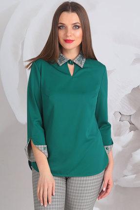 Купить Блузка Golden Valley 2195 зеленый, Блузки, 2195, зеленый, полиэстер 95, эластан 5%, Мультисезон