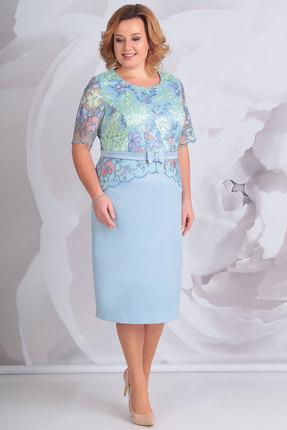 Купить Платье Golden Valley 4545 голубой, Вечерние платья, 4545, голубой, полиэстер 97 %. спандекс 3%, Мультисезон