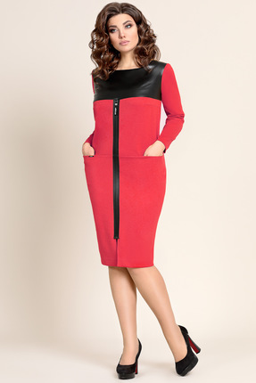 Купить Платье Мублиз 288 красный, Повседневные платья, 288, красный, вискоза 62%, пэ 32%, спандекс 6%, Мультисезон