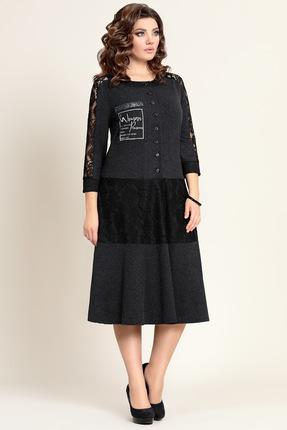 Купить Платье Мублиз 311 графитовый, Повседневные платья, 311, графитовый, вискоза 70%, пэ 26%, спандекс 4%, Мультисезон