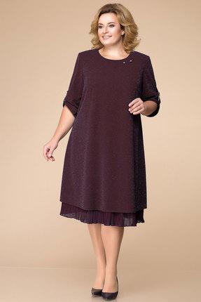 Купить Платье Romanovich style 1-1727 бордо, Вечерние платья, 1-1727, бордо, полиэстер 95%, спандекс 5%, Мультисезон