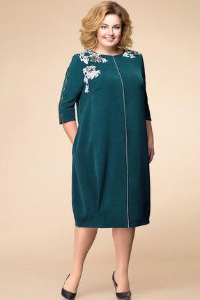 Купить Платье Romanovich style 1-1731 зеленый, Вечерние платья, 1-1731, зеленый, текстиль (96% ПЭ, 4% эластан), Мультисезон