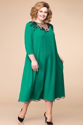Купить Платье Romanovich style 1-1753 зеленый, Вечерние платья, 1-1753, зеленый, 64% ПЭ, 32% вискоза, 4% спандекс, Мультисезон