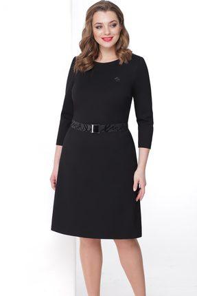 Купить Платье Линия-Л Б-1705 черный, Повседневные платья, Б-1705, черный, Вискоза 67%+Полиамид 28%+Спандекс 5%, Мультисезон