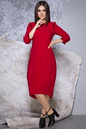 Купить Платье JeRusi 1914 красный, Повседневные платья, 1914, красный, ПЭ 65%+Вискоза 30%+Спандекс 5%, Мультисезон