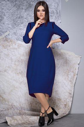 Купить Платье JeRusi 1914 синий, Повседневные платья, 1914, синий, ПЭ 65%+Вискоза 30%+Спандекс 5%, Мультисезон