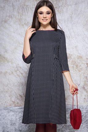Купить Платье JeRusi 1905 чернильный, Повседневные платья, 1905, чернильный, ПЭ 63%+Вискоза 33%+Спандекс 4%, Мультисезон