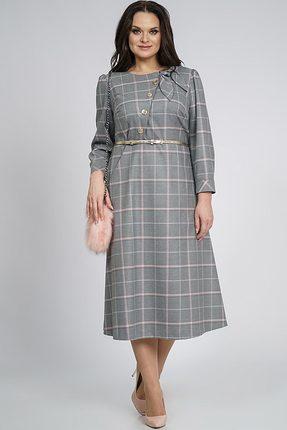 Купить Платье Alani 839 серый с розовым, Повседневные платья, 839, серый с розовым, ПЭ 63%+Вискоза 34%+Эластан 3%, Мультисезон
