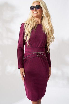 Купить Платье ЛЮШе 1944 фиолетовый, Повседневные платья, 1944, фиолетовый, ПЭ 65%+Вискоза 32%+Эластан 3%, Мультисезон