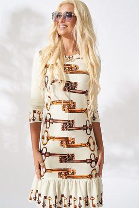 Купить Платье ЛЮШе 1959 молочный, Повседневные платья, 1959, молочный, Вискоза 71%+ПЭ 26%+Спандекс 3%, Мультисезон