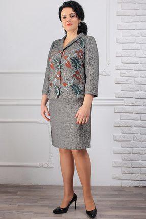 Комплект юбочный Мадам Рита 1038 серый