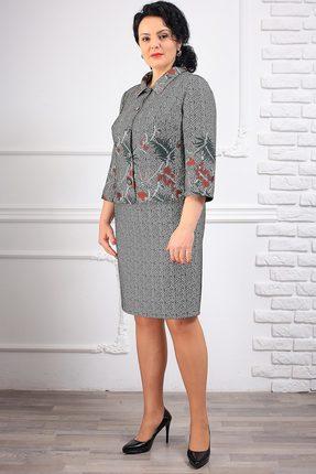Купить Комплект юбочный Мадам Рита 1040 серый, Юбочные, 1040, серый, ПЭ 65%+Вискоза 32%+Эластан 3%, Мультисезон