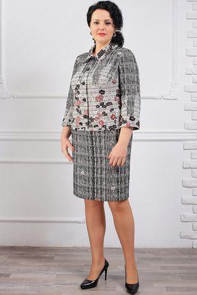 Комплект юбочный Мадам Рита 1045 серый тона