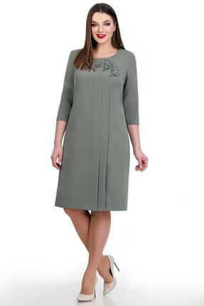 Купить Платье Мишель стиль 717 светло-зеленый, Повседневные платья, 717, светло-зеленый, полиэстер 67%, вискоза 30%, спандекс 3%, Мультисезон