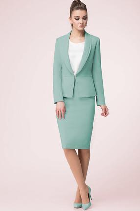 Купить Комплект юбочный LeNata 32871 светло-зеленый, Юбочные, 32871, светло-зеленый, 72% ПЭ, 22% вискоза, 6% спандекс, Мультисезон