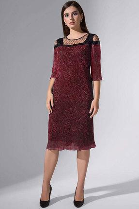 Купить Платье Erika Style 732-2 бордо, Повседневные платья, 732-2, бордо, вискоза 72%, ПЭ 25%, спандекс 3%, Мультисезон