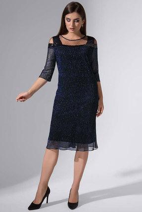 Купить Платье Erika Style 732-3 синий, Повседневные платья, 732-3, синий, вискоза 72%, ПЭ 25%, спандекс 3%, Мультисезон