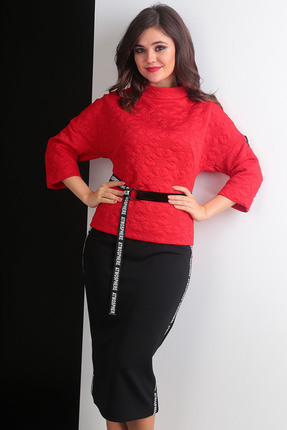 Комплект юбочный Мода-Юрс 2440 красный