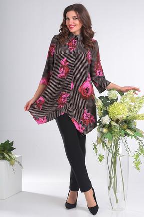 Купить Блузка Мода-Юрс 2413 розовый, Блузки, 2413, розовый, ПЭ 100%, Мультисезон