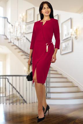 Купить Платье Миа Мода 938-7 темно-красный, Вечерние платья, 938-7, темно-красный, ПЭ 95 %, спандекс 5%, Мультисезон