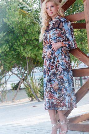 Купить Платье Vesnaletto 1985 цветы, Повседневные платья, 1985, цветы, ПЭ 95%+Спандекс 5% Подкладка: ПЭ 95%+Спандекс 5%, Лето