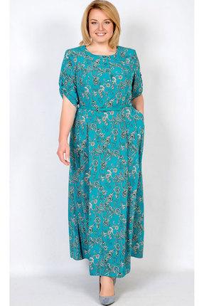 Купить Платье TricoTex Style 1716 бирюза, Повседневные платья, 1716, бирюза, 70% п/э, 25% вискоза, 5% спандекс, Мультисезон